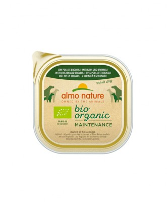 Almo Nature Bio Organic Maintenance hondenvoer <BR> Kip & Broccoli 300 gr