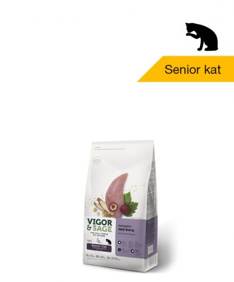 Vigor & Sage <BR>Astragalus Well-Being <BR>Senior Cat - 400gr