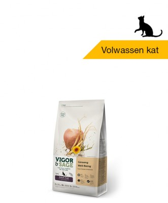 Vigor & Sage <BR>Ginseng Well-Being <BR>Adult Cat - 400gr