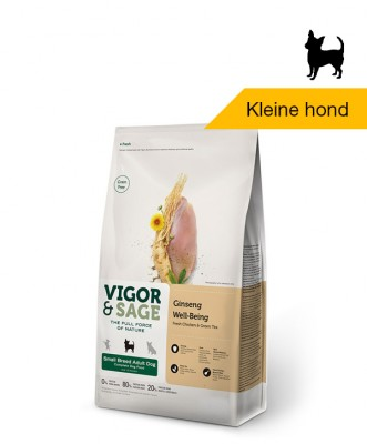 Vigor & Sage Ginseng <BR>Well-Being Small Breed <BR>Adult Dog - 6kg