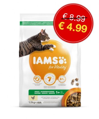 IAMS cat adult <BR>chicken 1.5kg