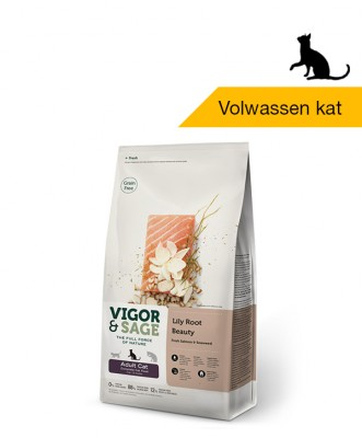 Vigor & Sage <BR>Lily Root Beauty <BR>Adult Cat - 2kg