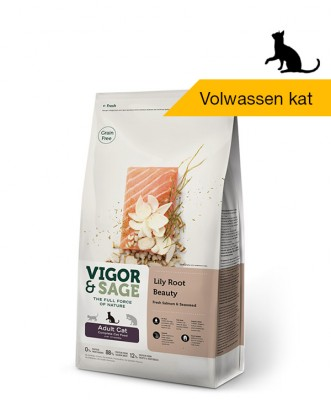 Vigor & Sage <BR>Lily Root Beauty <BR>Adult Cat - 4kg
