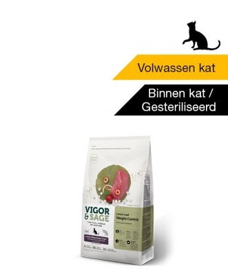 Vigor & Sage Lotus Leaf Weight Control <BR>Indoor - Sterilized Cat - 400gr