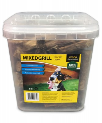 Mixedgrill hondensnack <BR> 5ltr
